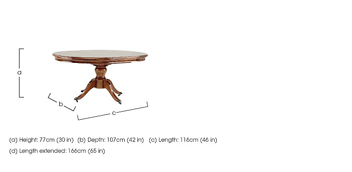 Lille Round Extending Dining Table in  on Furniture Village