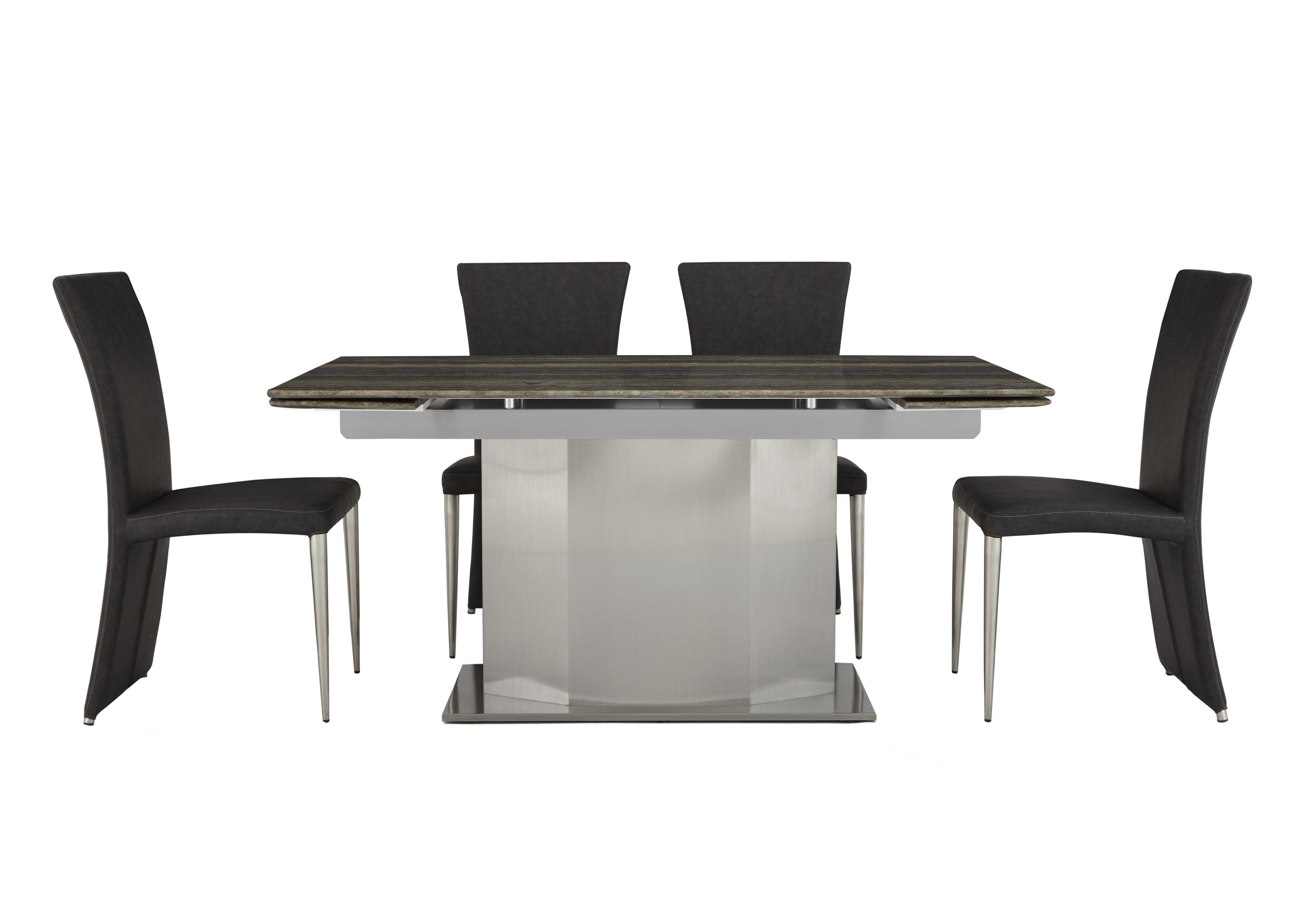 modern furniture dining table. Long Island Extending Dining Table And 4 Edison Chairs Modern Furniture