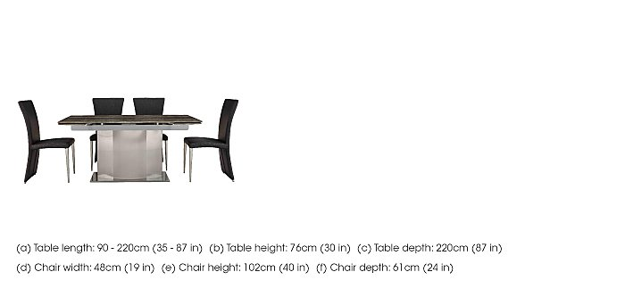 Long Island Extending Dining Table and 4 Edison Chairs in  on Furniture Village