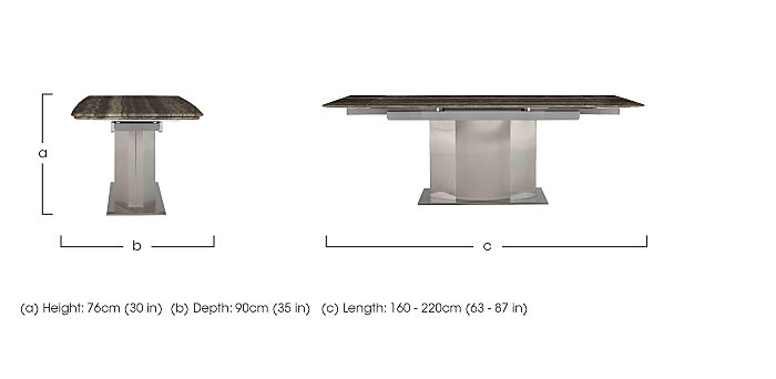 Long Island Extending Dining Table Furniture Village