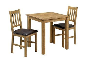 Larwood Oak Square Dining Table in  on Furniture Village