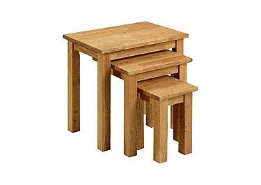 Larwood Oak Nest of 3 Tables in  on Furniture Village