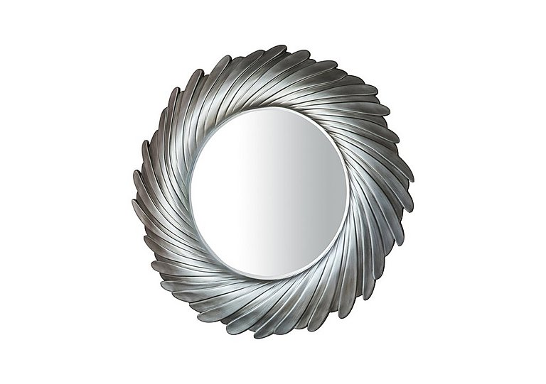 Lowry Mirror Silver in  on Furniture Village
