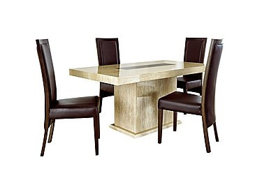 Lucern Dining Table and 4 Dining Chairs in  on Furniture Village