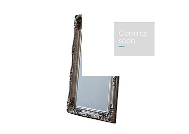 Carved Louis Leaner Silver Mirror in  on Furniture Village