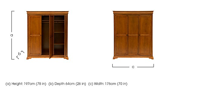 Louis Philippe Triple Wardrobe in  on Furniture Village