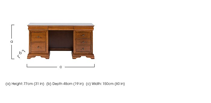 Louis Philippe Dressing Table in  on Furniture Village