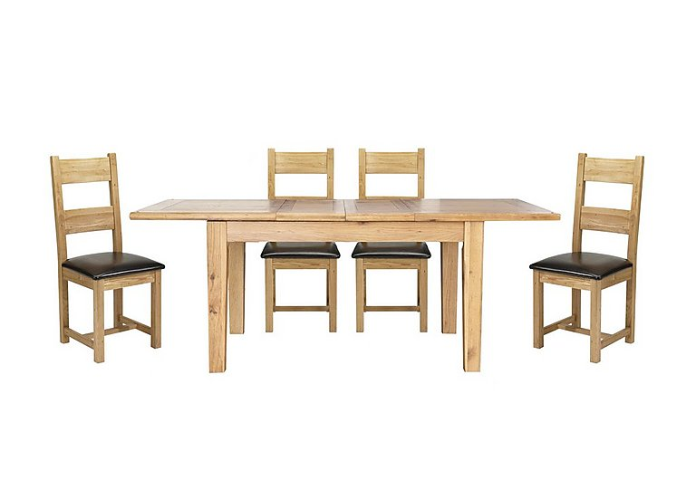 Lyon Extending Table & 4 Wooden Chairs in  on Furniture Village