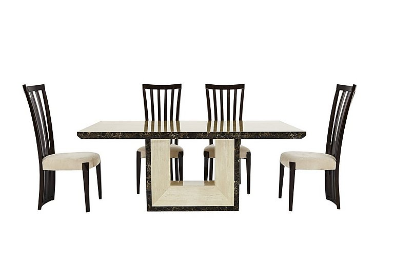 Marmo Dining Table and 4 Chairs in  on Furniture Village