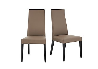Marco Polo Pair of Faux Leather Dining Chairs in  on Furniture Village