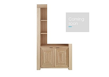 Maze Tall Oak Bookcase in  on Furniture Village