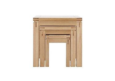 Modena Nest of Oak Tables in  on Furniture Village
