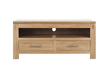 Modena Oak Entertainment Unit with Drawers in  on Furniture Village