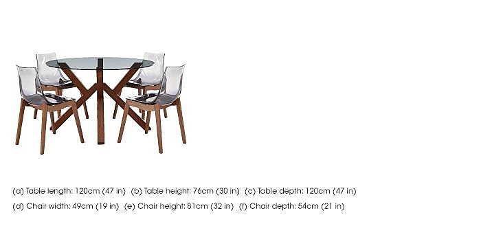 Mikado Dining Table and 4 Chairs in  on Furniture Village
