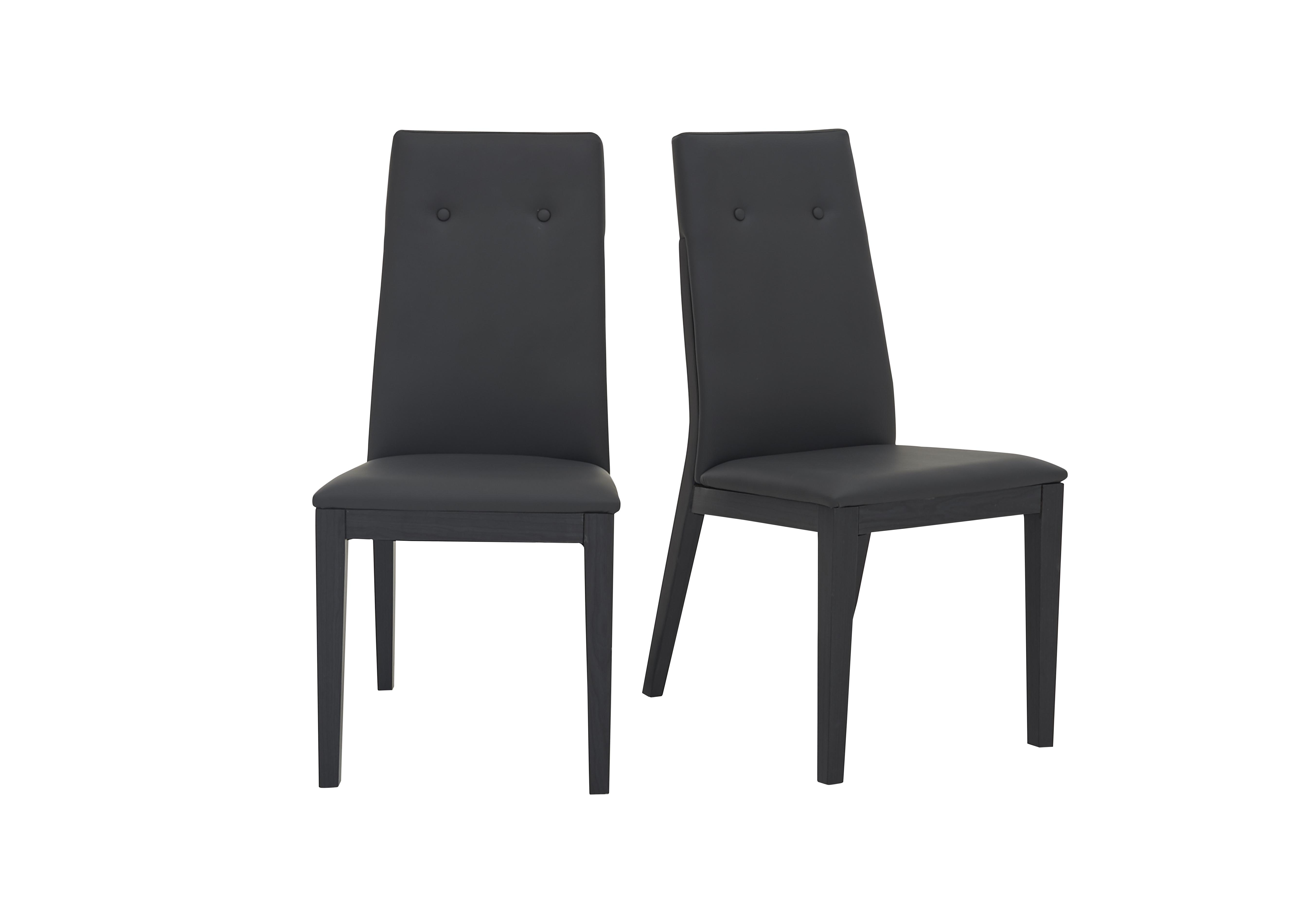 Monaco Pair of Faux Leather Dining Chairs Furniture Village