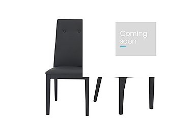 Monaco Pair of Faux Leather Dining Chairs in  on Furniture Village