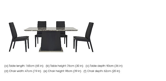 Monaco Dining Table and 4 Fabric Chairs in  on Furniture Village