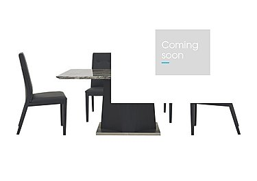 Monaco Dining Table and 4 Faux Leather Dining Chairs in  on Furniture Village