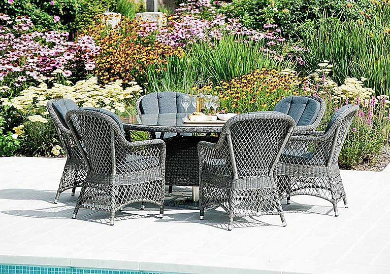 Monte Carlo 6 Seater Round Dining Set in  on Furniture Village