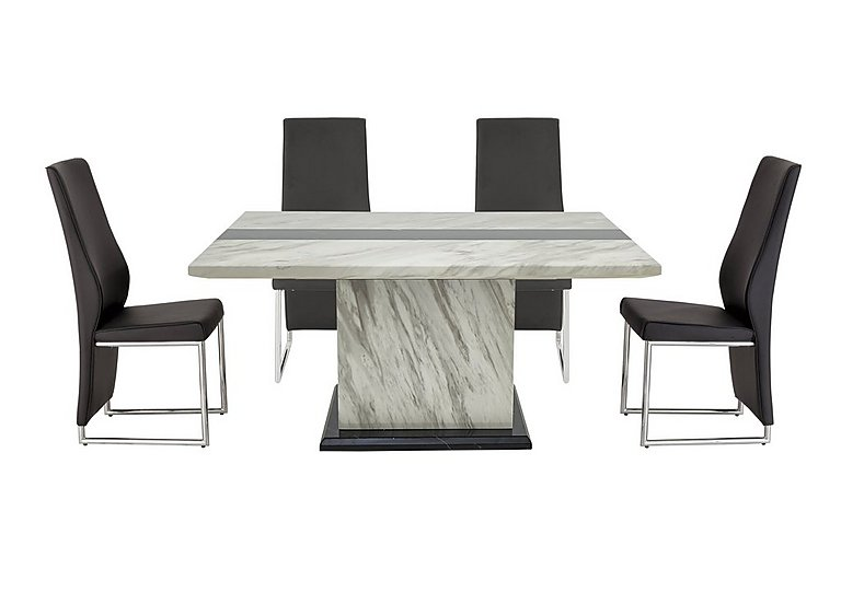 Mont Blanc Dining Table and 4 Chairs in  on Furniture Village