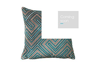 Neo Teal Fabric Cushion in  on Furniture Village