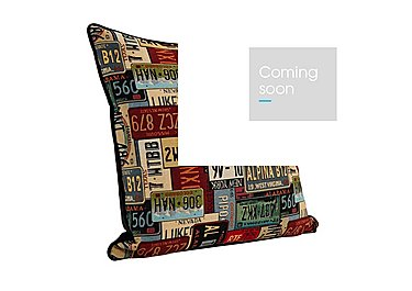 Number Plates Cushion in  on Furniture Village