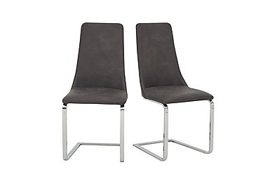 Nevada Pair of Faux Leather Dining Chairs in  on Furniture Village