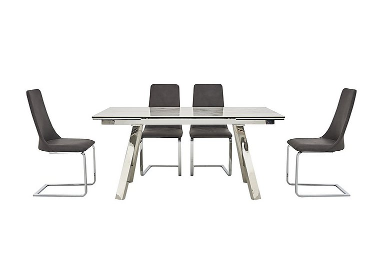 Nevada Extending Dining Table And 4 Chairs Furniture Village