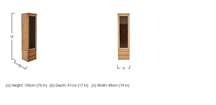 Orbit Tall 1 Door Display Unit in  on Furniture Village