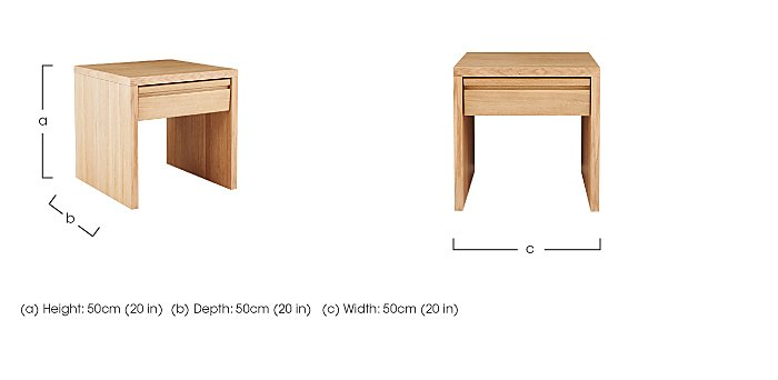 Orbit 1 Drawer Lamp Table in  on Furniture Village