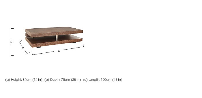Odessa Coffee Table in  on Furniture Village