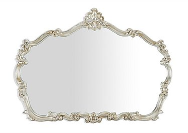 Silver Leaf Ornate Mirror in  on Furniture Village
