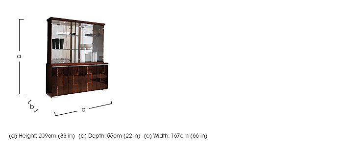 Palermo Display Unit in  on Furniture Village