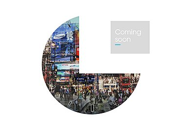 Glass Piccadilly Circus Wall Clock in  on Furniture Village