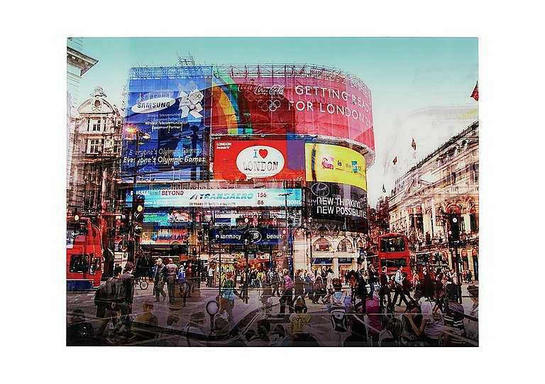 Piccadilly Circus Glass Picture in  on Furniture Village