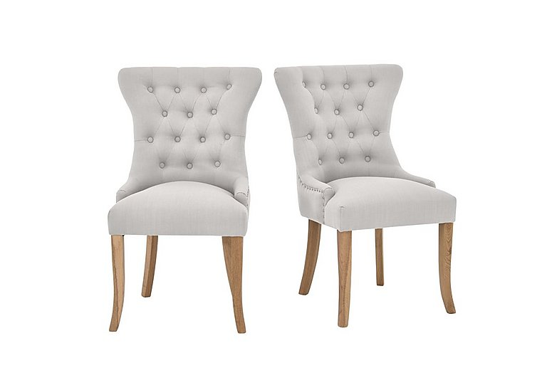 Padstow Almond Button Back Chairs Pair Furniture Village