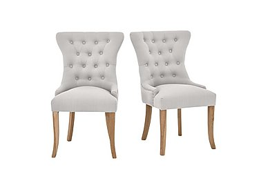 Padstow Pair of Almond Button Back Chairs in  on Furniture Village