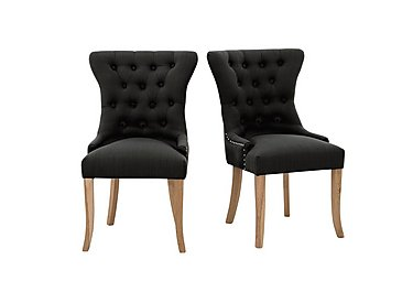 Padstow Pair of Slate Button Back Chairs in  on Furniture Village