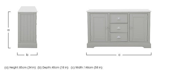 Padstow Large Sideboard in  on Furniture Village