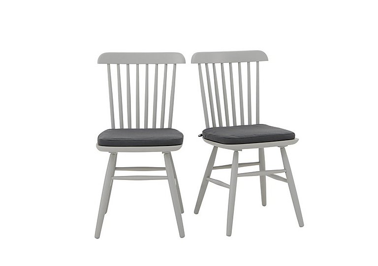 Padstow Pair of Spindle Back Chairs in  on Furniture Village