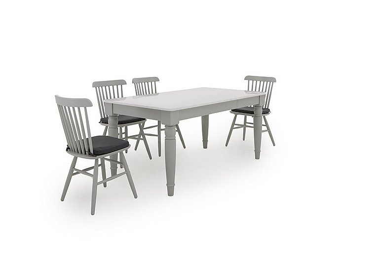 Padstow Dining Table And 4 Spindle Back Chairs Furniture Village