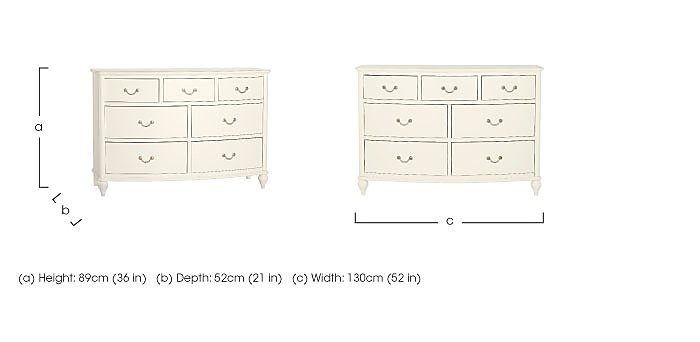 Penelope 7 Drawer Chest in  on Furniture Village