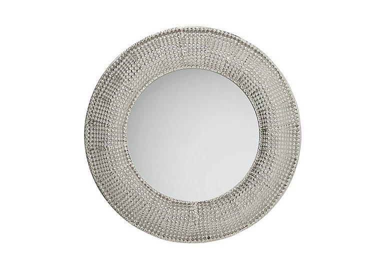 Pearls Silver Round Mirror in  on Furniture Village