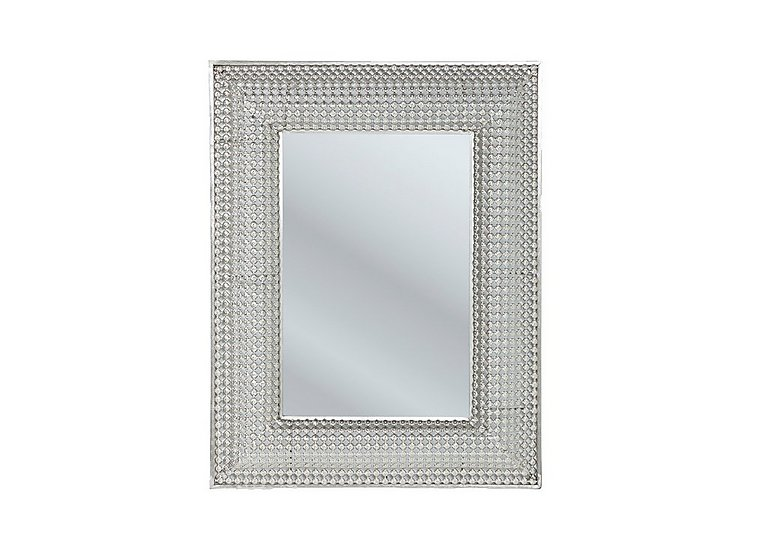 Pearls Silver Rectangular Mirror in  on Furniture Village