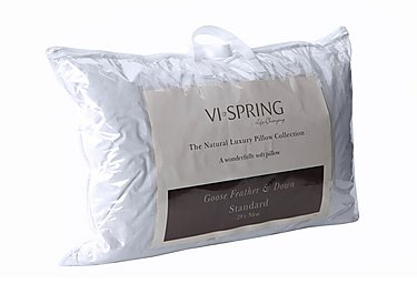 Whitegoose Feather & Down Pillow in  on Furniture Village