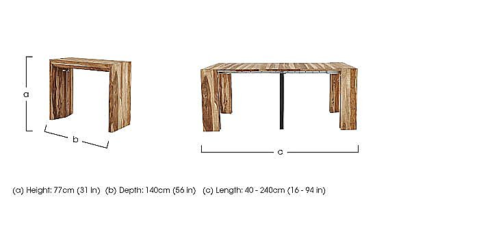 Piura Extending Table in  on Furniture Village
