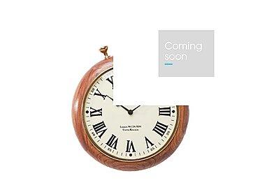 Pocket Wood Wall Clock in  on Furniture Village