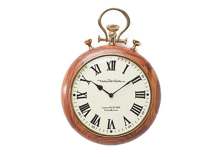 Pocket Wood Wall Clock in  on Furniture Village