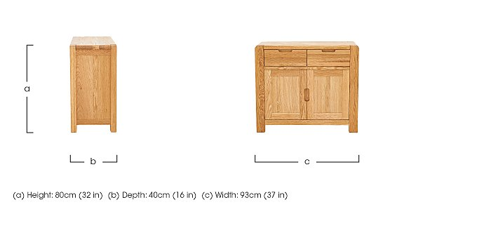 Portland Small Sideboard in  on Furniture Village