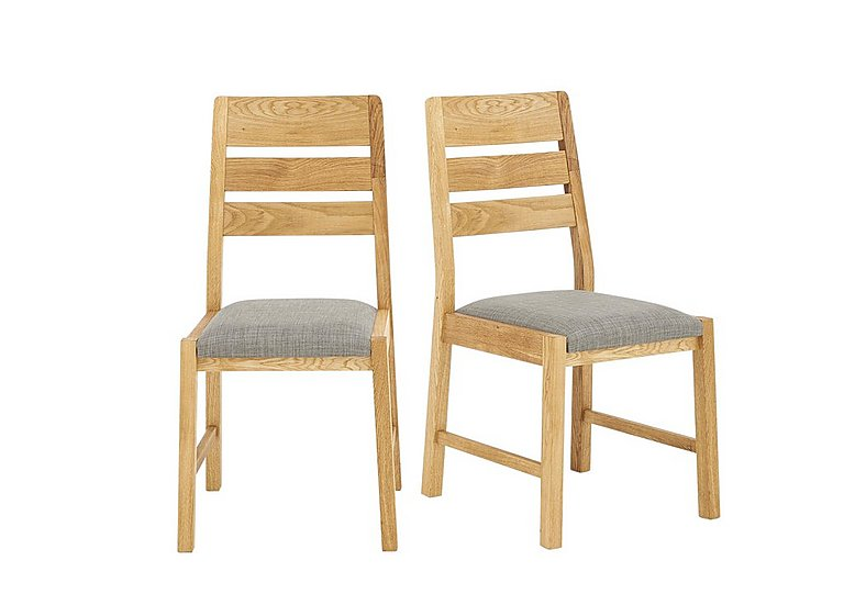 Portland Pair Of Slatted Back Dining Chairs